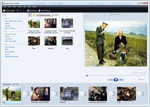 Capture d'ecran du logiciel Windows Movie Maker Installer 1.3 Build 24.4
