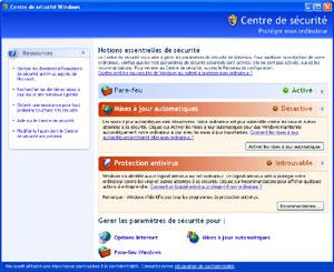 Capture d'écran du logiciel Windows XP Service Pack 2 fr