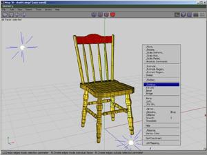 Capture d'ecran du logiciel Wings 3D 2.2.4 fr - MacOS
