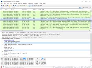 Capture d'ecran du logiciel Wireshark Portable 3.2.5