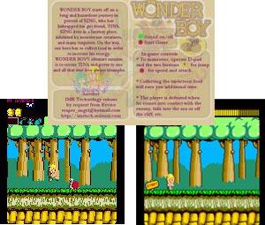 Capture d'écran du logiciel Mame Wonder Boy Single Arcade