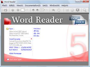Capture d'écran du logiciel Word Reader 6.24 fr