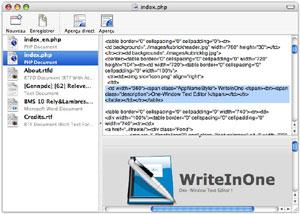 Capture d'écran du logiciel WriteInOne 1.3 fr