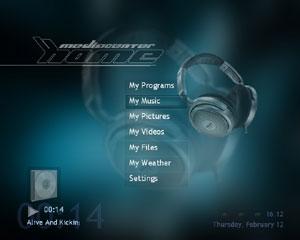 Capture d'écran du logiciel XBox Media Center 09-12-2009 S...
