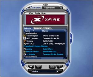 Capture d'écran du logiciel Xfire 2.44.761 fr
