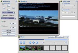 Capture d'écran du logiciel Xmpeg 5.2 beta 2 fr