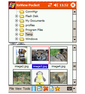 Capture d'ecran du logiciel XnView Pocket 1.40 fr