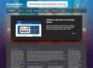 Capture d'écran du logiciel Xoops 2.5.7.3 fr