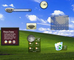 Capture d'ecran du logiciel Yahoo! Widget Engine 4.5.2 fr - Windows