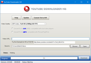 Capture d'écran du logiciel Youtube Downloader HD Portable...