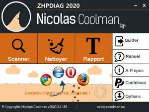 Capture d'ecran du logiciel ZHPDiag 2020.8.6.221 fr
