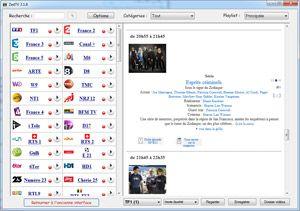 Capture d'écran du logiciel ZedTV 3.7.9 fr