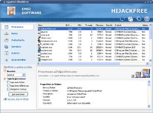 Capture d'écran du logiciel Emsisoft HiJackFree 4.5.0.10 fr