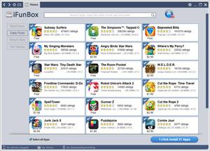 Capture d'écran du logiciel iFunBox 3.0.2610.0819 fr