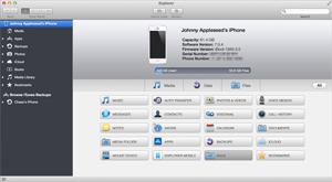 Capture d'ecran du logiciel iExplorer 4.3.8 - MacOS