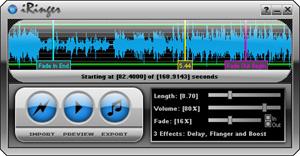 Capture d'écran du logiciel iRinger Portable 4.2.0.0