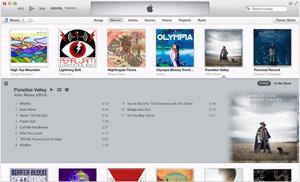Capture d'écran du logiciel iTunes 12.7.3 fr - MacOS