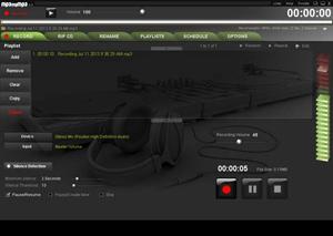 Capture d'ecran du logiciel MP3myMP3 Recorder 4.2