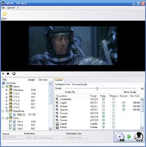 Capture d'écran du logiciel ratDVD 0.78.1444 fr