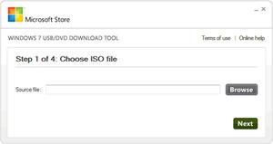 Capture d'écran du logiciel Windows 7 USB/DVD Download Too...